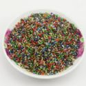 Beads, Seed beads, Glass, Assorted colours, Disc shape, Diameter 2mm, 25g, 1650 Beads, (SSZ098)